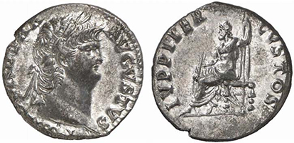 NERO. Denar. Ex Lanz 138, n. 580. 3,47 g.