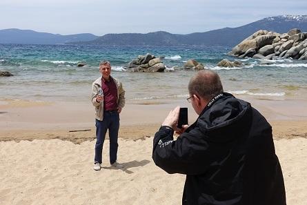 Michael Märcher takes a photo of his Livonian colleague Ivar Leimus. Photograph: UK.