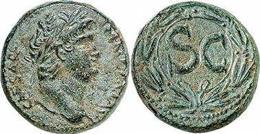 NERO. Bronze. Ex Gorny & Mosch 191, lot n. 1838. 8,52 g.