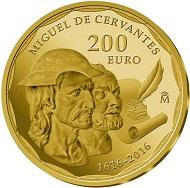 Spain / 200 Euros / Gold .999 / 13.5g / 30mm / Mintage: 2,500.