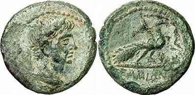 AUGUSTUS. Bronze. Ex Gorny & Mosch 186, lot n. 1599. 3.25 g.