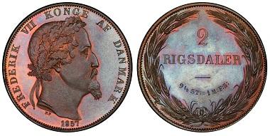 Denmark. Frederick VII. Pattern 2 Rigsdaler.