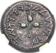 Judäa. Jüdischer Krieg. Shekel Jahr 5 (70). Aus Sammlung Shoshana. Gutes sehr schön.