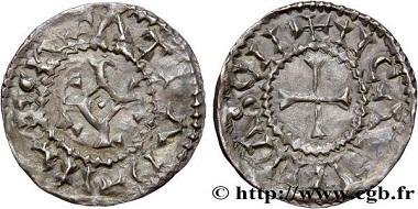 Lot 393006: Carolingian, Charles the Bald. Obole, Châlons-en-Champagne c. 864-900. G.-; Prou.-. About very fine/very fine. Estimate: 3,000 Euro.