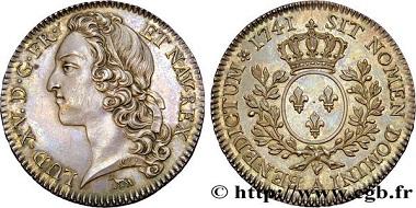 Lot 390380: France, Louis XV. Half Ecu