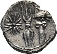 Lot 19: Bruttium, Croton, Hemidrachm 420/400 BC. SNG ANS 416. Very rare. Very fine /extremely fine.