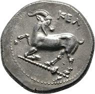 Lot 69: Cilicia, Celendris, Stater 425/400 BC. Unpublished variety. Extremely fine.