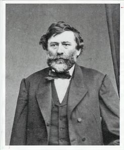 Agoston Haraszthy (1812-1869), erster Prüfer der kalifornischen Münzstätte und wegen eines Skandals Vater des kalifornischen Weinbaus.