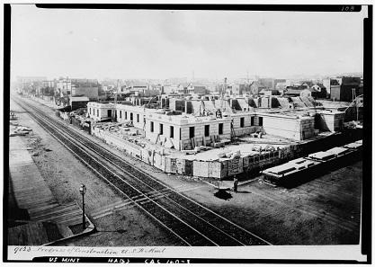 Der Bau der alten Münzstätte. Foto: Library of Congress HABS CAL,38-SANFRA,5-1.