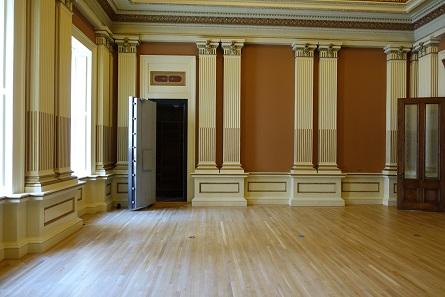Das ehemalige Empfangsbüro frisch restauriert. Foto: UK.
