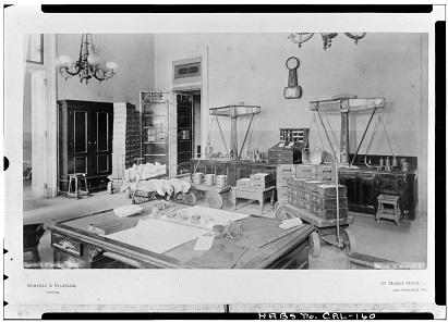 Das Empfangsbüro für die Öffentlichkeit. Foto: Library of Congress HABS CAL,38-SANFRA,5-32.