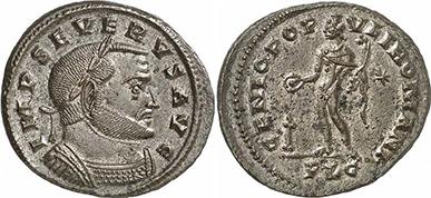 SEVERUS II. Follis. Ex Gorny & Mosch 191 n. 2409. 10,69 g.