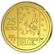 This is what a new euro coin on the 175th anniversary of the Royal Numismatic Society looks like. 500 specimens of this 3.11 g coin will be issued by the Royal Belgian Mint.