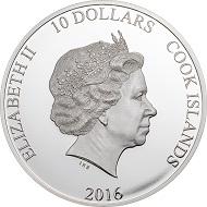 Cook Islands / 10 Dollars / Silver .999 / 2 oz / 38.61mm / Mintage: 999.