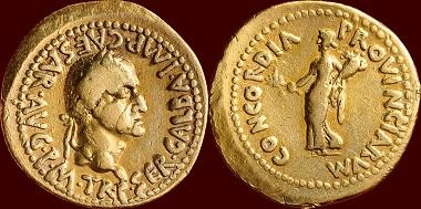 Römische Kaiserzeit, Galba, Aureus.