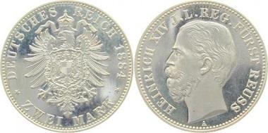 Deutsches Reich / Reuß. 2 Mark 1884-A.