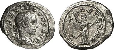 Römisches Reich, Philippus II, Quinar.