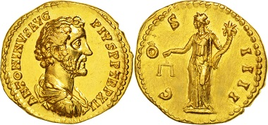 Römisches Reich. Antoninus Pius, Aureus Not Applicable. Rome.