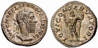 MACRINUS. Denar. Ex Tkalec 76, lot n. 190. 3,12 g.