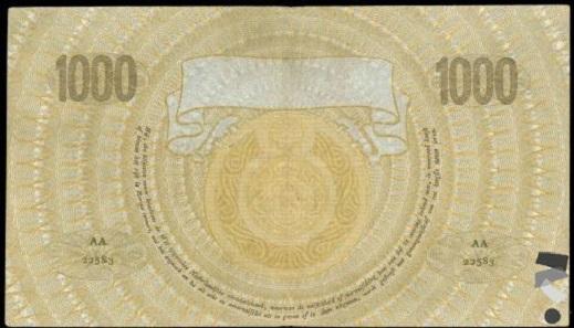 Niederlande, 1.000 Gulden 1919.