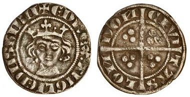 Lot 714: Edward I (1279-1307), new coinage, penny, London. N. 1011; S. 1381; Stewartby p.171, Ib. Creased and straightened, extremely rare. Estimate: £600-800.