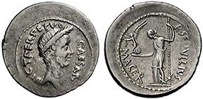 JULIUS CAESAR. Denar. Ex Lanz 147 n. 220. 4,02 g.