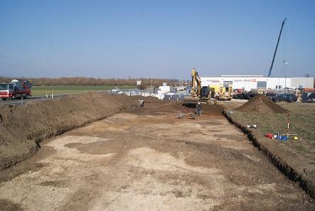 Seit 2005 gab es mehrfach größere Grabungen an der Fundstelle Neubau/Traun.