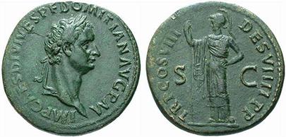 DOMITIAN. Sesterz. Ex Muenzen und Medaillen 20 n. 298. 26,57 g.