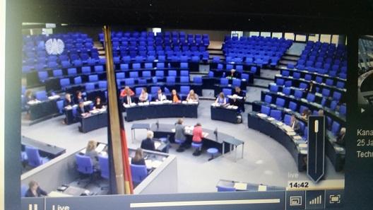 Screenshot aus der Life-Übertragung zur Neuregelung des Kulturgutschutzrechts.