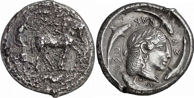 Syracuse. Tetradrachm of the so-called demarateion series, 475-470. Ex Gorny & Mosch Auction 159 (2007), 44.