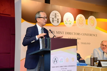Albert Cheng of the World Gold Council focused on current trends of the gold market. Photograph: Mint of Thailand.