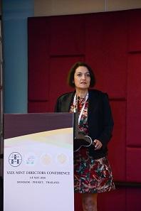 Andrea Lang von der Münze Österreich präsentierte ihren Ansatz der Kundenbindung. Foto: Mint of Thailand.