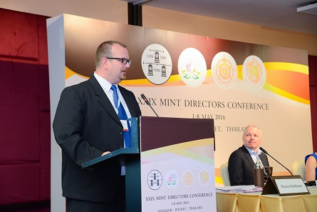 Marius Haldimann of the Swissmint was the chair of the third session of the Marketing Committee that revolved around customer needs. Photograph: Mint of Thailand.