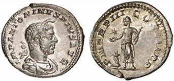 ELAGABALUS. Denar. Ex Lanz 141 n. 598. 2,79 g.