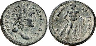 PSEUDO-AUTONOM. Bronze. Ex Gorny & Mosch 160, n. 1895. 4,62 g.