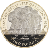 Great Britain / £2 / .925 silver (outer plated with fine gold) / 12g / 28.4mm / Design Jody Clark (obverse), Aaron West (reverse) / Mintage: 10,500. © Royal Mint.
