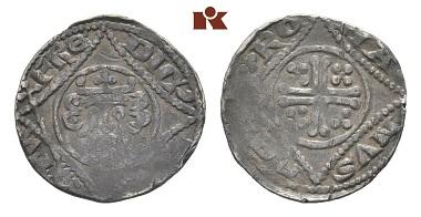 Lot 1374: Frederick II., 1215-1250. Pfennig. Berghaus 71. slightly weak strike, very fine. Estimate: 500 Euro.