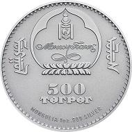 Mongolei / 500 Togrog / Silber .999 / 1 Unze / 38,61 mm / Auflage: 2500.