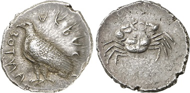 Acragas. Didrachm, 510-500. From Gorny & Mosch Auction 228 (2015), 16.