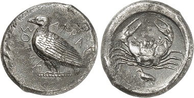 Acragas. Tetradrachm, 450-420. From Gorny & Mosch Auction 229 (2015), 1045.