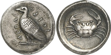 Acragas. Tetradrachm, 450-430. From Gorny & Mosch Auction 195 (2011), 34.