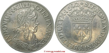 Frankreich, Louis XIII., Ecu d'argent, 1642.