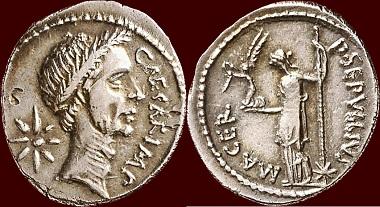 Römische Imperatoren, Julius Caesar, Denar, Rom.
