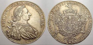 Brandenburg-Preussen, Friedrich II., Levantetaler, 1767.