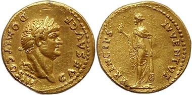 Römisches Reich, Domitian, Aureus.