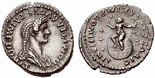 DOMITIA. Denar. Ex UBS 78 n. 1587. 3,29 g.