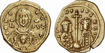 ROMANVS IV UND EUDOCIA. Tetrarteron. Ex Kuenker 136 n. 1573. 4 g.