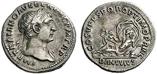 TRAIANUS. Denar. Ex Lanz 149 n. 386. 3,22 g.