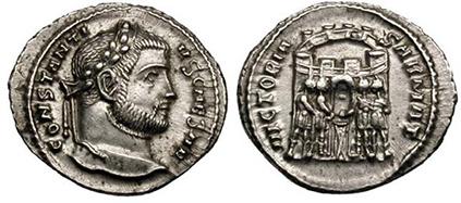 CONSTANTIUS I. Argenteus. Ex Gemini I, lot 459. 3,35 g.