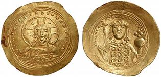 CONSTANTINUS IX. Histamenon Nomisma. Ex Lanz 138, n. 980. 4,39 g.